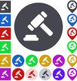 Color legal icon set vector image vector image