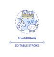 cruel attitude concept icon vector image vector image