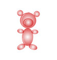 cute red inflatable bear poster isolated on white vector image