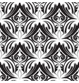 damask vintage black and white seamless vector image vector image