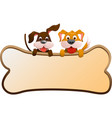 dogs with banner vector image vector image