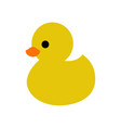 duck icon vector image