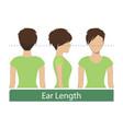 ear length hair length vector image vector image