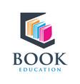 educational book logo design vector image vector image