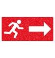 Emergency Exit Grainy Texture Icon vector image
