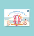 facebook template with baby shower design concept vector image vector image