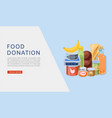 food donation web banner vector image vector image
