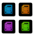 glowing neon png file document icon download png vector image vector image