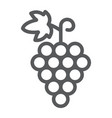 grapes line icon fruit and vitamin vine sign vector image