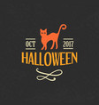 halloween emblem template logo badge vector image