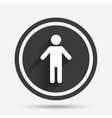 Human male sign icon Person symbol vector image vector image