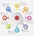 infographic template with summer icons vector image