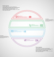 Infographic with circle divided to four color vector image vector image