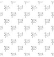 jolly roger pattern seamless vector image