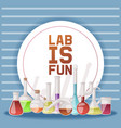 laboratory is fun banner vector image vector image