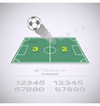 Live score on soccer yard vector image vector image