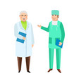 male doctors therapist and surgeon medical staff vector image
