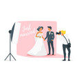 marriage day photo session vector image vector image