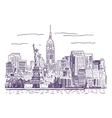 New York drawing vector image vector image