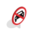 No car traffic sign icon isometric 3d style vector image vector image
