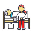 nursery doctor with patient in hospital clinic vector image vector image