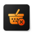 orange glowing remove shopping basket icon vector image vector image