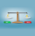 paper art of weight scale with forex currency vector image