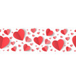 paper hearts border vector image