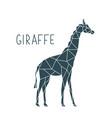 polygonal giraffe wild animal poster vector image vector image