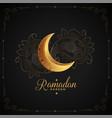ramadan kareem islamic arabic style golden moon vector image vector image