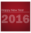 red happy new year 2016 from little snowflakes vector image vector image