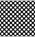 seamless white polka dot pattern on black vector image vector image