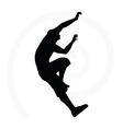 senior climber man silhouette