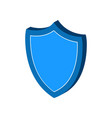 shield protection symbol flat isometric icon or vector image vector image