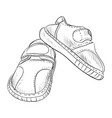 sketch of kid boots vector image