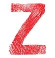 Slova saranaZ vector image vector image