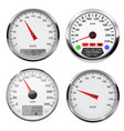 speedometers and tachometers car dashboard gauges vector image vector image