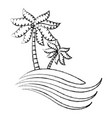 summer and beach symbol vector image vector image