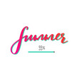 summer hand drawn lettering concept vector image vector image
