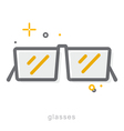 Thin line icons Glasses vector image vector image