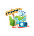 travel flat composition vector image vector image
