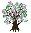 Tree with blossom and leaves vector image vector image