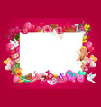 valentines day gifts cupid love hearts frame vector image vector image