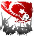world cup turkey vector image vector image