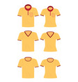yellow shirt for men and women vector image