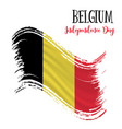 21 july belgium independence day background vector image vector image