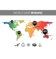 3d world map with points and percantage vector image vector image