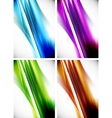 Abstract colorful line background set vector image vector image