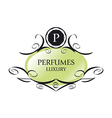 abstract green logo for perfumes vector image vector image