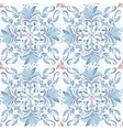 Abstract seamless floral kaleidoscopic pattern vector image